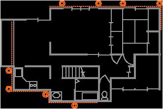 例2、布基礎の広めの部分矯正(長野県駒ヶ根市N様邸)