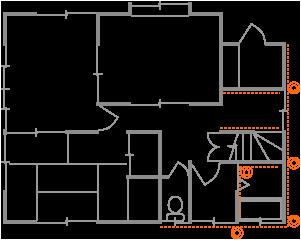 例3、布基礎の狭めの部分矯正(埼玉県上尾市S様邸)